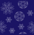 snowflakes seamless pattern new year vector image