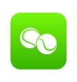 tennis ball icon green vector image vector image