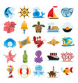 things related with the sea vector image vector image