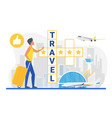 travel crossword cartoon traveler tourist vector image