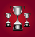 Trophies background vector image