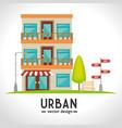 urban and cityscape design vector image vector image
