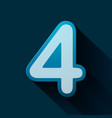 volume icons number four vector image vector image