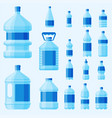 water plastic bottle transparent mineral vector image vector image
