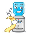 with menu water cooler with plastic bottle cartoon vector image