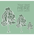 Postcard with trees green color vector image