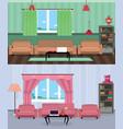 interior room of teenage boy and girl vector image