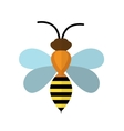 Bee icon isolated on white background vector image