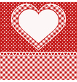 Greetings card with heart vector image