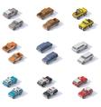 isometric SUVs set vector image