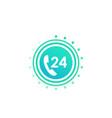 24 hour service button icon vector image