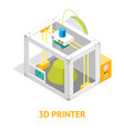 3d printer flat design style isometric view vector image vector image
