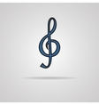a blue clef isolated on grey vector image vector image