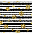 a gold snowflake pattern stripe christmas vector image vector image