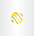 abstract yellow black business logo globe vector image