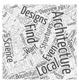 Architecture overview Word Cloud Concept vector image vector image