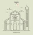basilica san zeno in verona italy vector image vector image