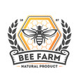 bee farm vintage isolated label vector image vector image