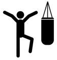 boxer icon vector image vector image