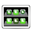 Camper green app icons vector image