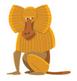 cartoon baboon vector image