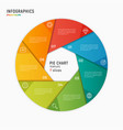 circle chart infographic template 7 vector image vector image