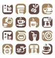 color coffee icons set vector image vector image
