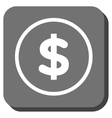 Dollar Rounded Square Icon vector image