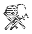 drum icon doodle hand drawn or outline icon style vector image