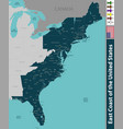 east coast of the united states vector image vector image