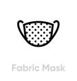 fabric mask icon editable line vector image vector image