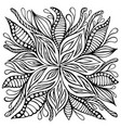 fantasy flower doodle style coloring page vector image vector image