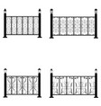 fence icons set vector image vector image
