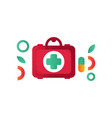 first aid kit medical help symbol vector image vector image