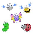 Five funny beetles vector image vector image