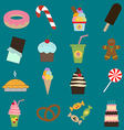 Food dessert icons set vector image vector image
