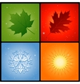 four seasons background vector image vector image
