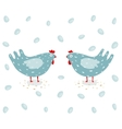 Funny Hen and Eggs vector image vector image