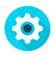 gear wheel flat circle icon vector image vector image