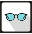Glasses icon flat style vector image vector image