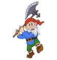 Gnome with a halberd vector image vector image