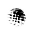 halftone sphere dotted circle vector image