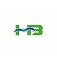 HB logo vector image vector image