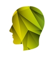 head with abstract texture vector image vector image