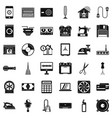 home appliance icons set simple style vector image vector image