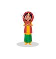 indian woman cartoon character vector image
