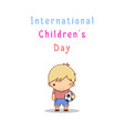 international children s day vector image vector image