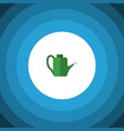 isolated watering can flat icon bailer vector image