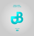 logo initial bb template with gradient style color