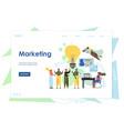 marketing website landing page design vector image vector image